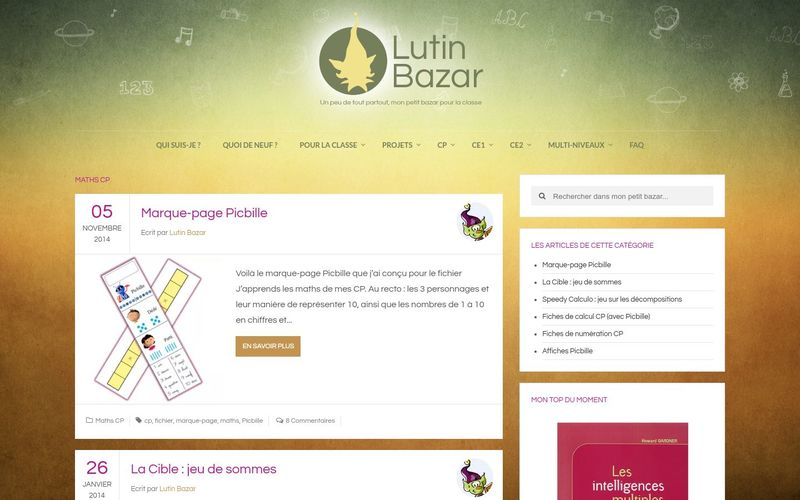 Maths CP | Lutin Bazar